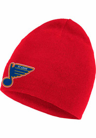 St Louis Blues Adidas Reverse Retro Cuffed Knit - Red