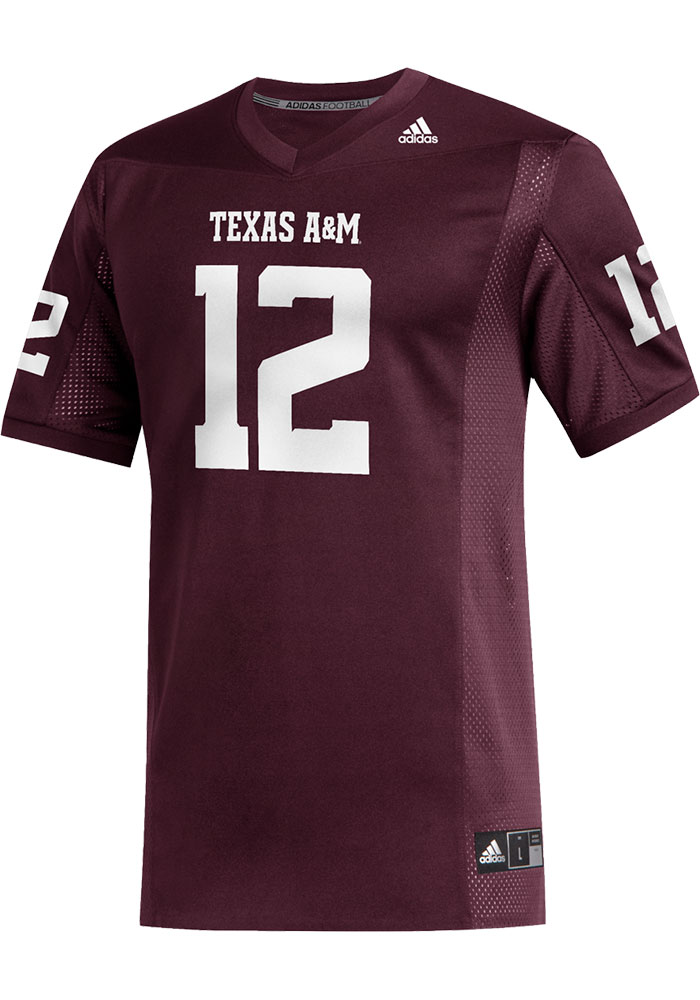 Adidas Texas A&M Aggies Maroon Replica Football Jersey - Image 1