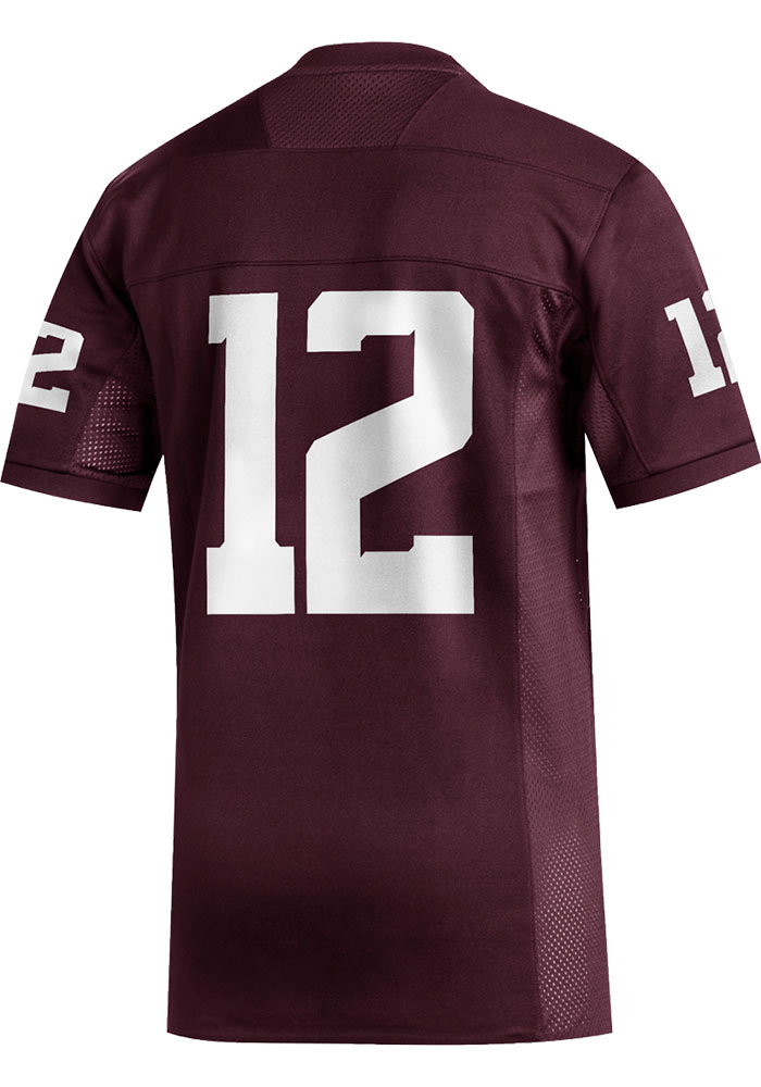 Adidas Texas A&M Aggies Maroon Replica Football Jersey - Image 2
