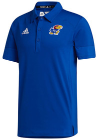 Kansas Jayhawks Adidas Under The Lights Coaches Polo Shirt - Blue