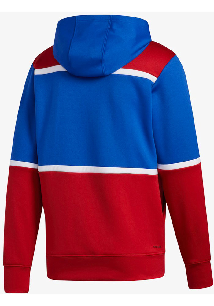 Adidas Kansas Jayhawks Mens Blue Under The Lights Pullover Hood - Image 2