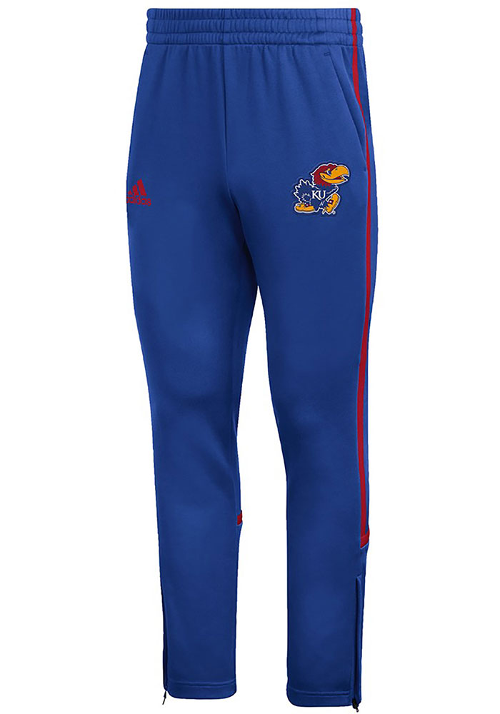 Adidas Kansas Jayhawks Mens Blue Under The Lights Pants - Image 1