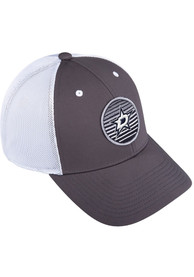 Dallas Stars Adidas Mesh Trucker Adjustable Hat - Charcoal