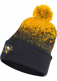 Pittsburgh Penguins Adidas Color Fade Cuffed Pom Knit - Black