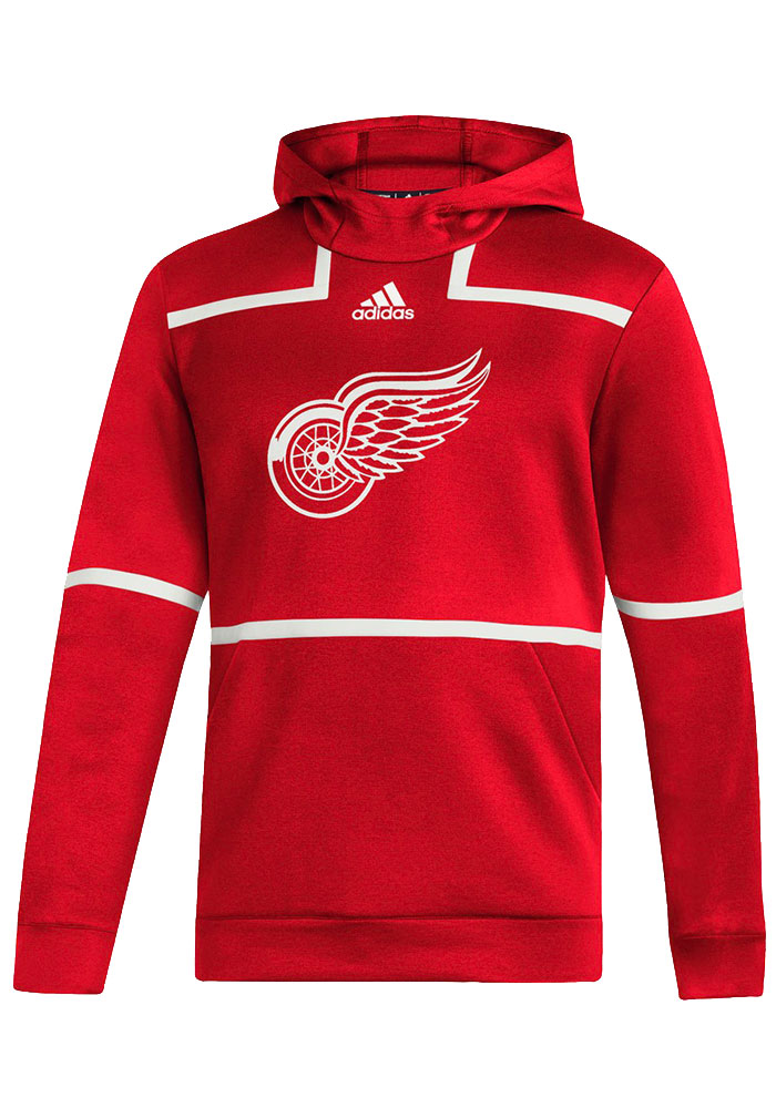 Adidas Detroit Red Wings Mens Red Under the Lights Hood - Image 1