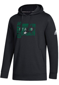 Dallas Stars Adidas All Net Hooded Sweatshirt - Black