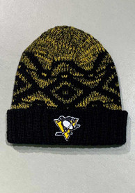Pittsburgh Penguins Womens Adidas W Cuff Knit - Black