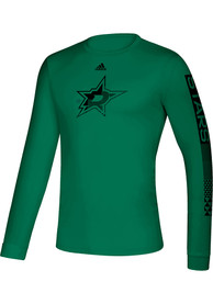 Dallas Stars Adidas Closing The Gap T-Shirt - Kelly Green