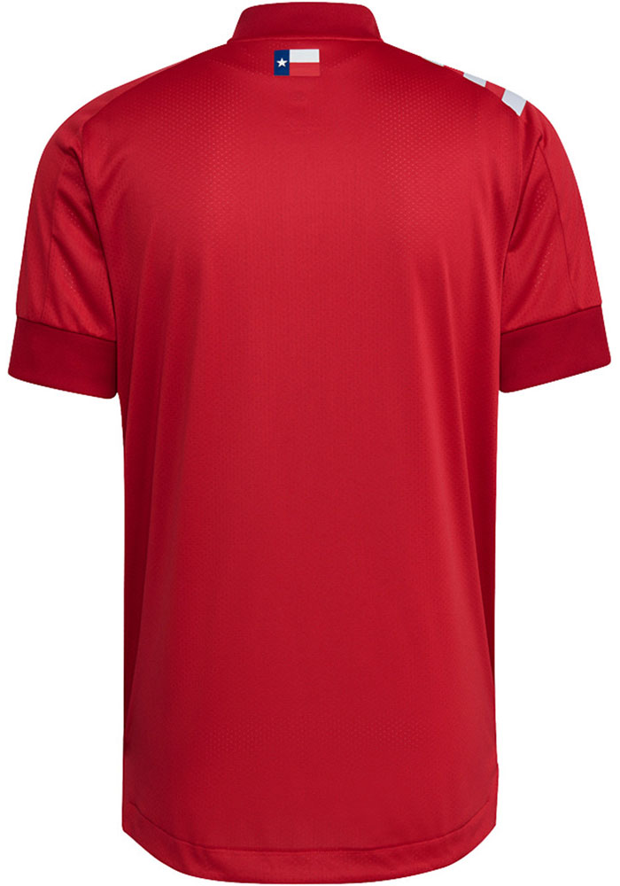 FC Dallas Mens Adidas Authentic Soccer 2021 Primary Authentic Jersey - Red - Image 2