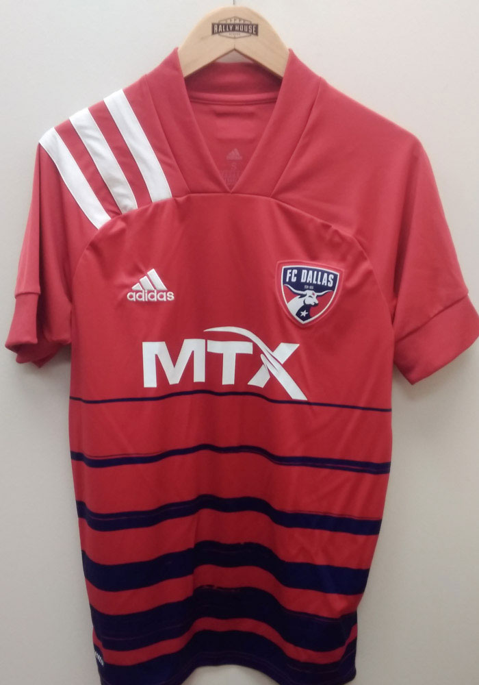 FC Dallas Mens Adidas Authentic Soccer 2021 Primary Authentic Jersey - Red - Image 3