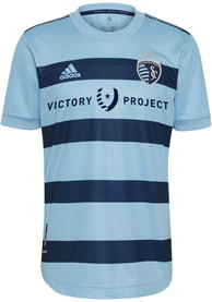 Sporting Kansas City Adidas 2021 Primary Authentic Soccer - Light Blue
