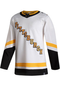 Pittsburgh Penguins Adidas Reverse Retro Hockey Jersey - White