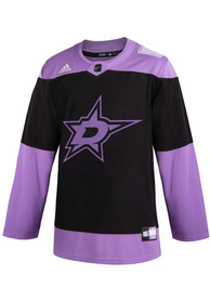Dallas Stars Adidas Hockey Fights Cancer Authentic Hockey Jersey - Purple