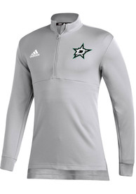Dallas Stars Adidas Left Wing 1/4 Zip Pullover - Grey