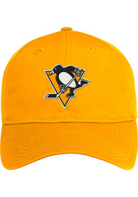 Pittsburgh Penguins Adidas Coach Slouch Adjustable Hat - Yellow