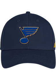 St Louis Blues Adidas Wool Structured Adjustable Hat - Navy Blue