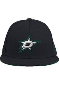 Dallas Stars Adidas Baseball Fitted Hat - Black