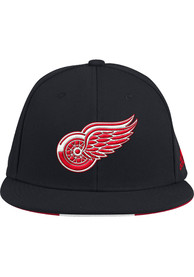 Detroit Red Wings Adidas Baseball Fitted Hat - Black