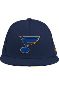 St Louis Blues Adidas Baseball Fitted Hat - Navy Blue