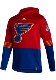 St Louis Blues Adidas Under The Lights Hood - Red