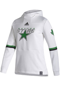 Dallas Stars Womens Adidas Reverse Retro Hooded Sweatshirt - White