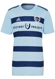Sporting Kansas City Adidas 2021 Primary Replica Soccer - Light Blue