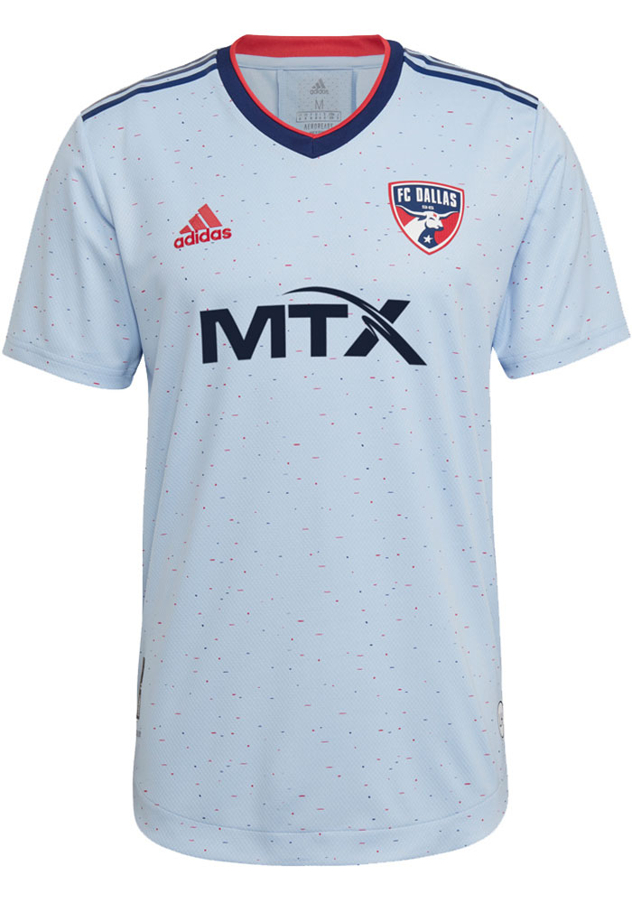 FC Dallas Mens Adidas Authentic Soccer 2021 Secondary Jersey - White - Image 1