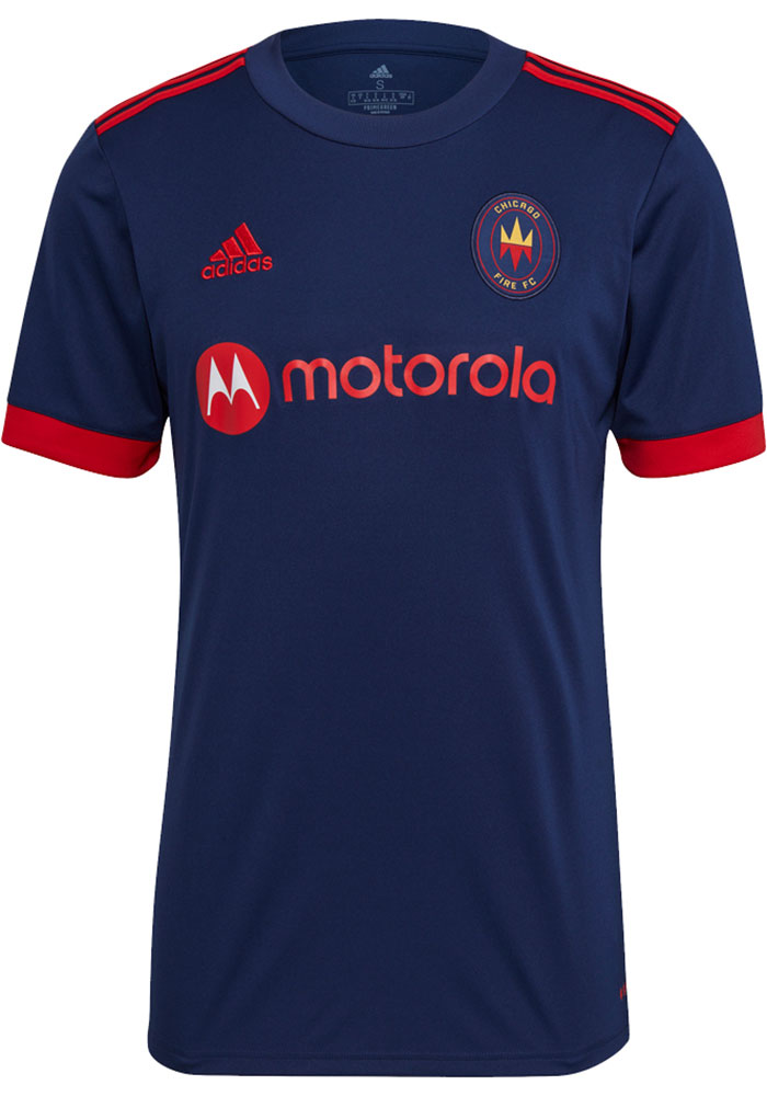 Chicago Fire Mens Adidas Replica Soccer 2021 Primary Jersey - Red - Image 1