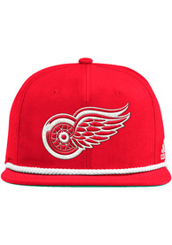 Detroit Red Wings Adidas Retro Rope Snapback - Red