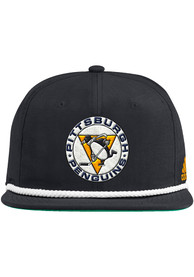Pittsburgh Penguins Adidas Retro Rope Snapback - Black