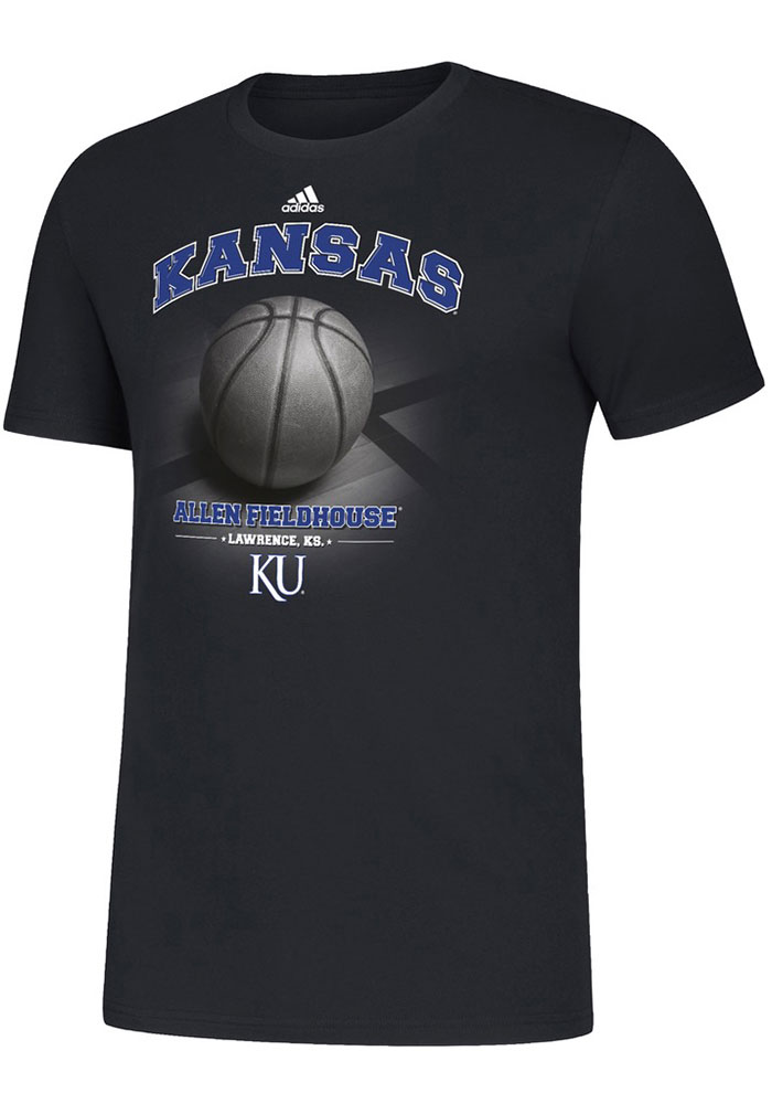 Kansas Jayhawks Adidas Allen Fieldhouse T Shirt - Black