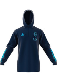 Sporting Kansas City Adidas Travel Hooded Sweatshirt - Navy Blue