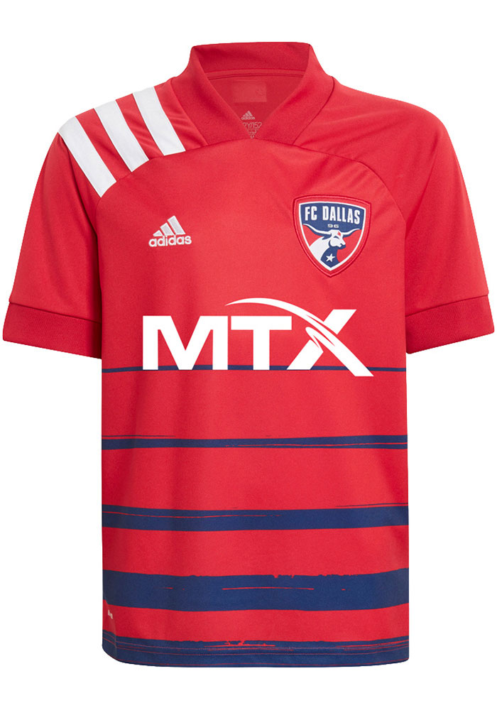 Adidas FC Dallas Youth Red Primary Replica Soccer Jersey - Image 1