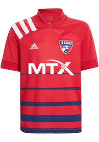 FC Dallas Youth Adidas Primary Replica Soccer Jersey - Red