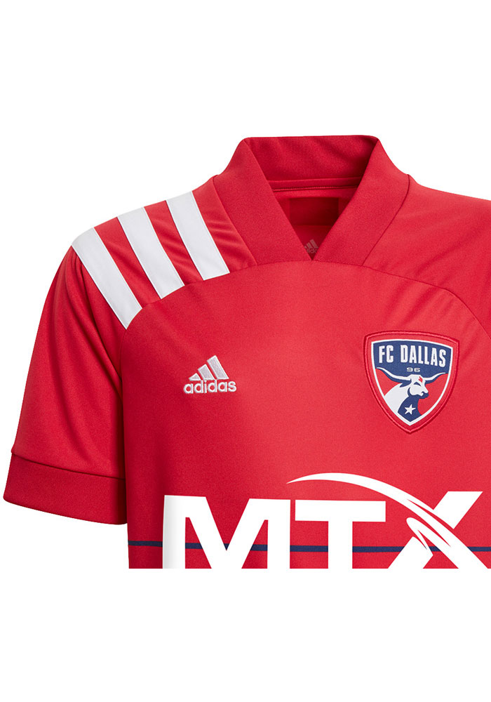 Adidas FC Dallas Youth Red Primary Replica Soccer Jersey - Image 2