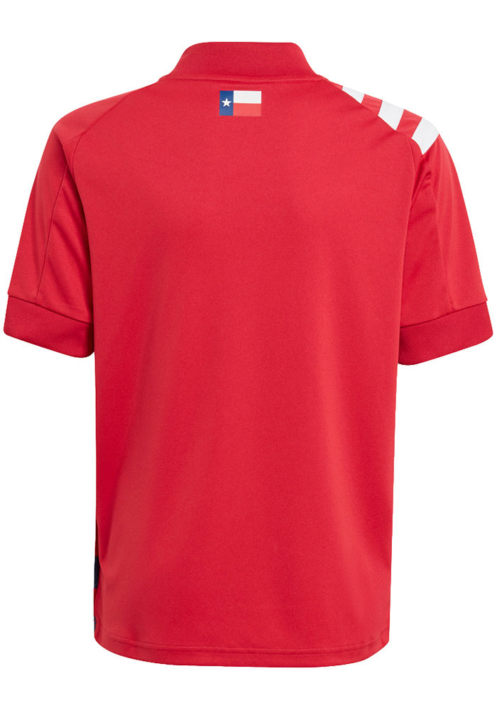 Adidas FC Dallas Youth Red Primary Replica Soccer Jersey - Image 4