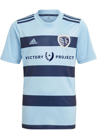 Sporting Kansas City Youth Adidas Primary Replica Soccer Jersey - Light Blue