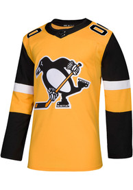 Pittsburgh Penguins Adidas Authentic Hockey Jersey - Gold