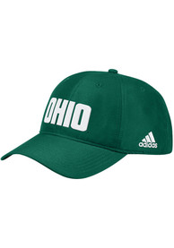 Ohio Bobcats Adidas 2019 Sideline Coach Slouch Adjustable Hat - Green