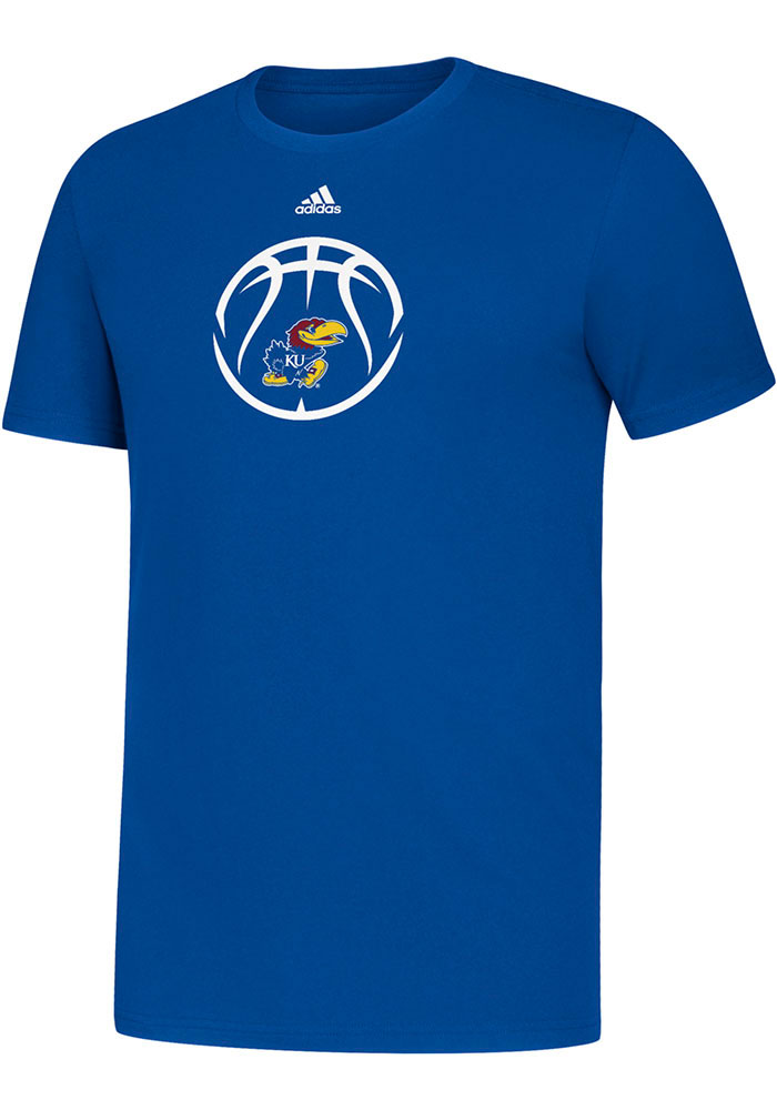 Kansas Jayhawks Youth Adidas Locker Basketball Icon T-Shirt - Blue