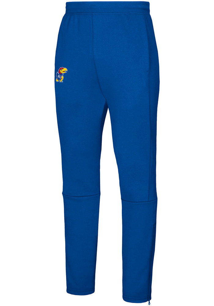 Adidas Kansas Jayhawks Mens Blue Sideline Game Mode Pants - Image 1
