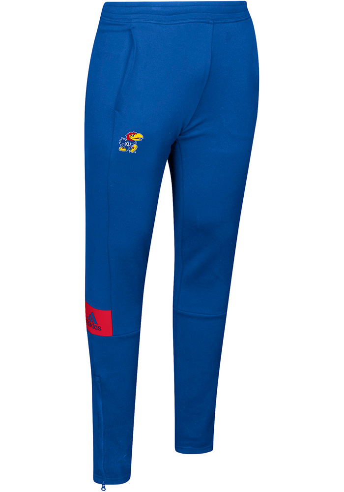 Adidas Kansas Jayhawks Mens Blue Sideline Game Mode Pants - Image 2