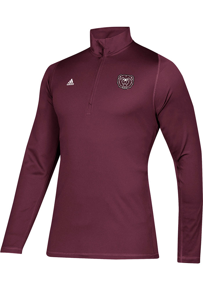Adidas Missouri State Bears Mens Maroon Freelift Sport Long Sleeve 1/4 Zip Pullover - Image 1