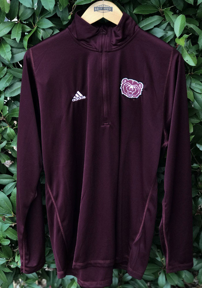Adidas Missouri State Bears Mens Maroon Freelift Sport Long Sleeve 1/4 Zip Pullover - Image 3