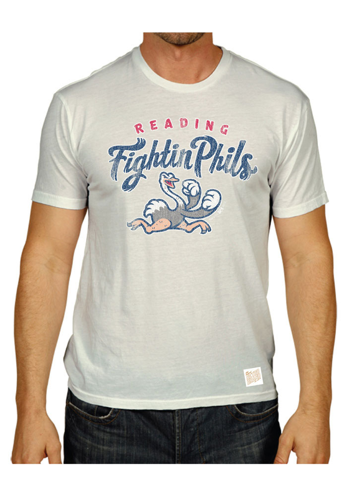 Original Retro Brand Reading Fightin Phils White Minor League Baseball Tee - Image 1
