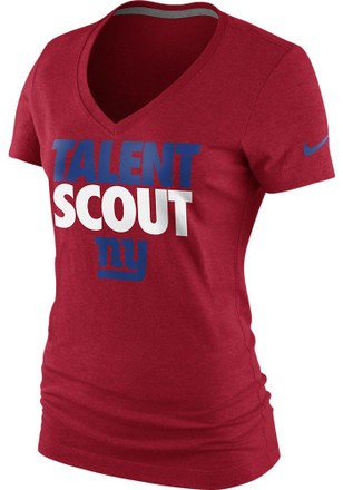 Nike New York Giants Womens Red Talent Scout V-Neck