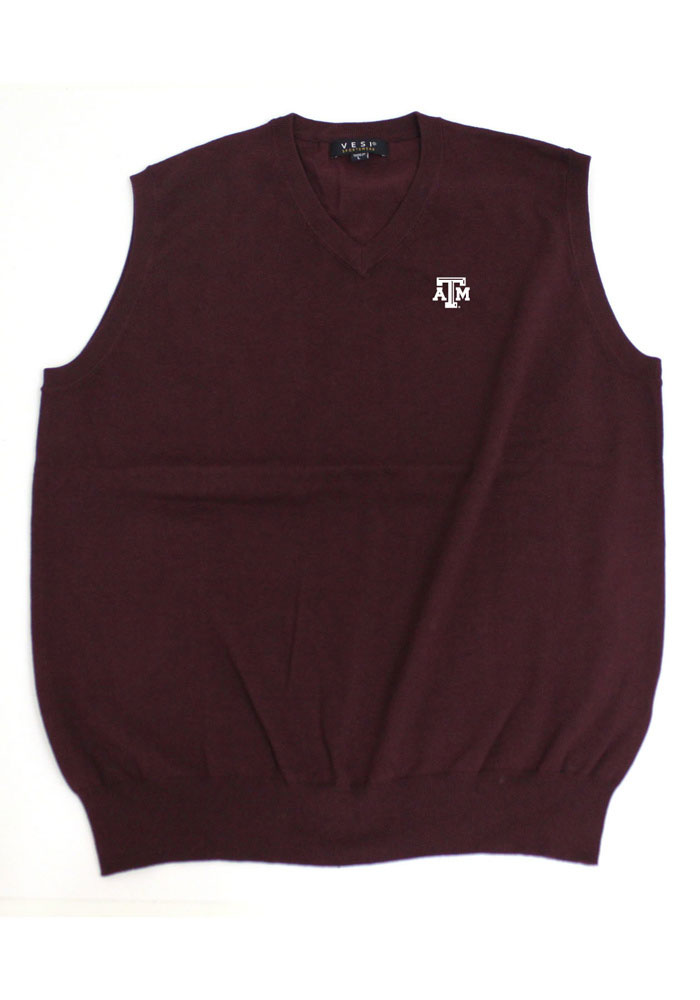 Texas A&M Aggies Mens Maroon Logo Sweater Vest - Image 1