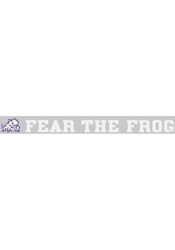 TCU Horned Frogs 2x19 White Fear the Frog Auto Auto Strip - Image 1