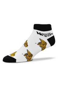 Missouri Western Griffons Baby White Allover Team Logo Quarter Socks