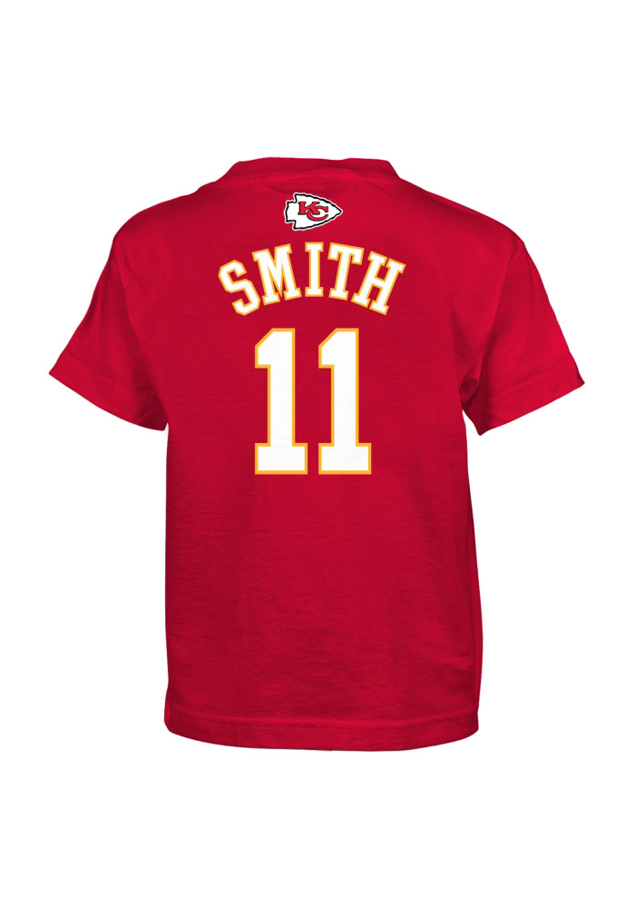 Alex Smith Kansas City Chiefs Youth Red Player Player Tee - Image 1